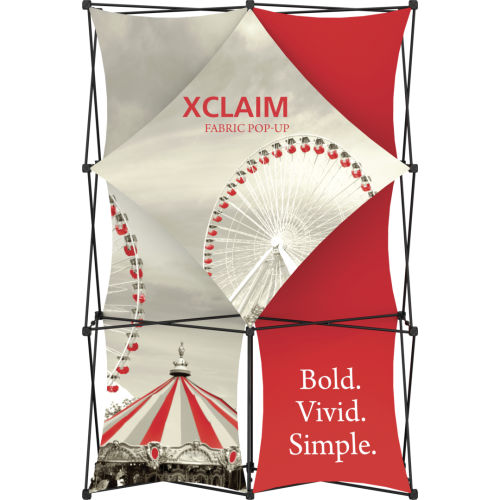 Xclaim 5ft Full Height Fabric Popup Display Kit 01