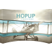 Hopup 13ft Curved Full Height Tension Fabric Display